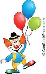 vector, clown