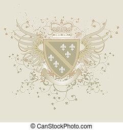 Vector coat of arms and Fleur-de-li