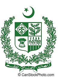 coat of arms of Pakistan - Vector coat of arms of Pakistan
