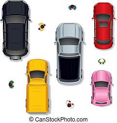 vector, coche, #1