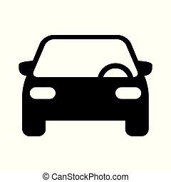 vector, coche, icono
