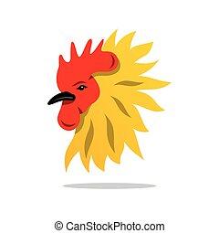 Vector Cock Cartoon Illustration.
