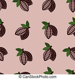 vector cocoa seamless background pattern