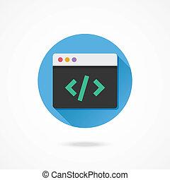 vector, coderen, pictogram