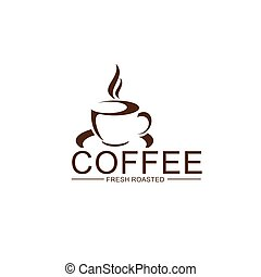 Vector coffe cup steam icon for coffeeshop design - Coffee...