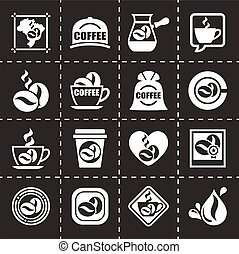 Vector Coffe icon set