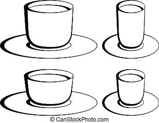 vector coffee glasses