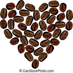 coffee - vector coffee heart