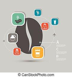 Vector coffee infographics icon design