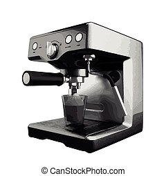 vector coffee mashine isolated