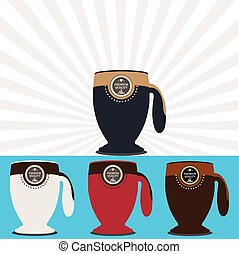 Vector Coffee mugs