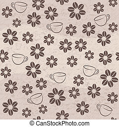 Vector coffee seamless background