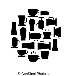 Vector Coffee shop background
