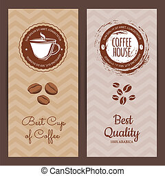Vector coffee shop or brand logo banner