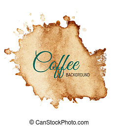Vector Coffee Stain Background - Coffee stain isolated on...
