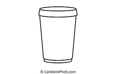 Vector - Coffee to go - Vektor - Kaffee to go - Icon Symbol...