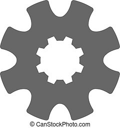 Vector Cog Gear Flat Icon Symbol