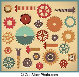 Vector cog icons