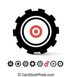 Vector Cogs - Gears Icons Set