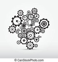 Vector Cogs - Gears Illustration