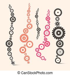 Vector Cogs - Gears Set