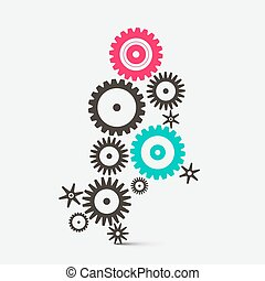 Vector Cogs - Gears Technology Icons