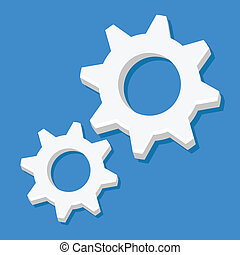 Vector Cogs Icon