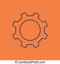 Vector cogwheel icon