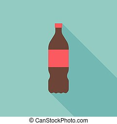 Vector cola bottle icon