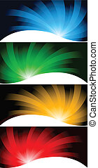 Vector collection bright banners; clip-art