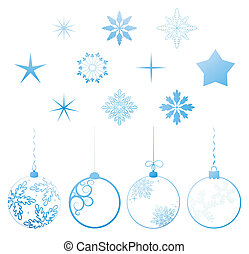 Vector collection Christmas design elements