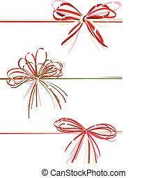 Vector collection gift bows