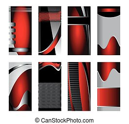 Vector collection of banners red