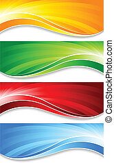 Vector collection of banners