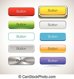 Vector Collection of Buttons