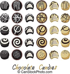 vector collection of chocolate candies