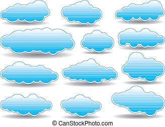vector collection of  clouds
