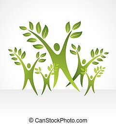 vector collection of ecological man