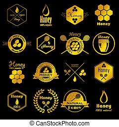 vector collection of honey badges