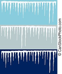vector collection of icicles backgrounds