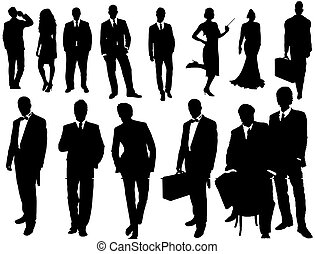 vector collection of isolated business people