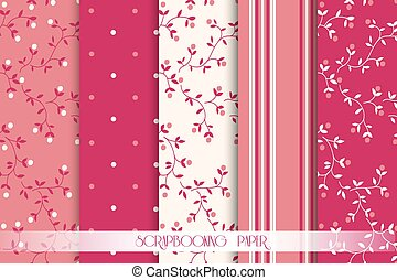 Vector Collection of paper for scrapbook