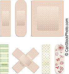 Vector collection of plasters - Vector collection of medical...