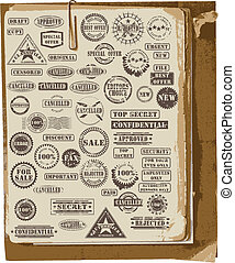 Vector collection of rubber stamps