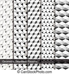 Vector collection of seamless patterns