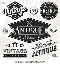 Labels - Vector Collection of Vintage Labels and Badges