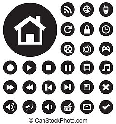 Vector collection of web and mobile icons. - Vector...