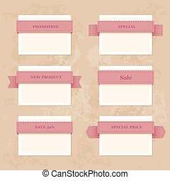 Vector collection vintage labels