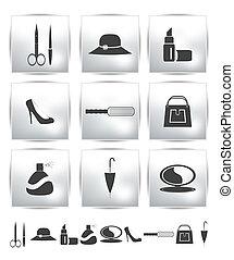 Vector collection web icon. Set pictogram
