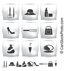Vector collection web icon. Set pictogram